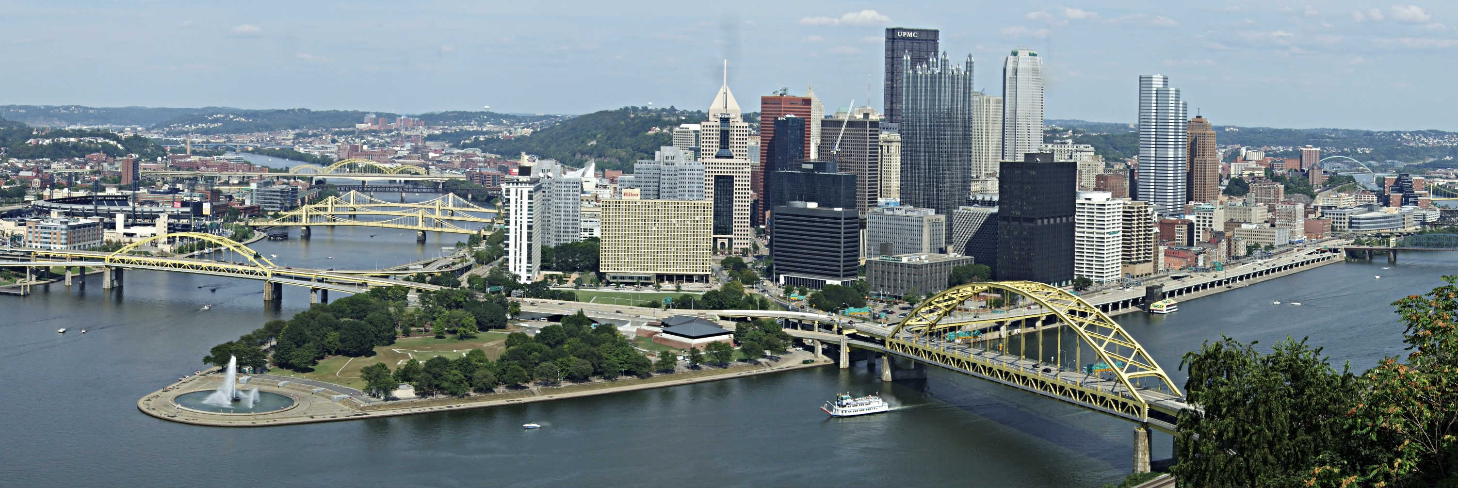 view of pittsburgh skyline
